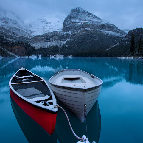 I spent 3 very cold nights at Lake O'Hara in Yoho National Park Canada.  Although the lighting wasn't great I still got some great shots.